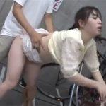 【レイプadaruto若妻動画】誰もいない駐輪所で美乳妻が散々犯されたうえに中出しまでされてしまう!
